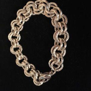 Jewelry - Sterling double rolo bracelet